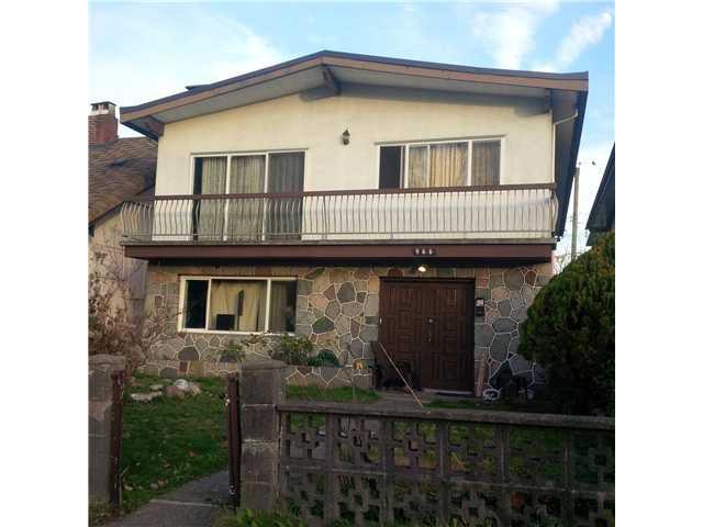 Main Photo: 966 RENFREW ST in Vancouver: Renfrew VE House for sale (Vancouver East)  : MLS®# V1037212