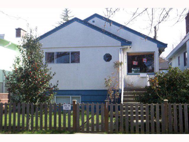 Main Photo: 5216 Prince Albert Street in Vancouver: Fraser VE House for sale (Vancouver East)  : MLS®# V814016