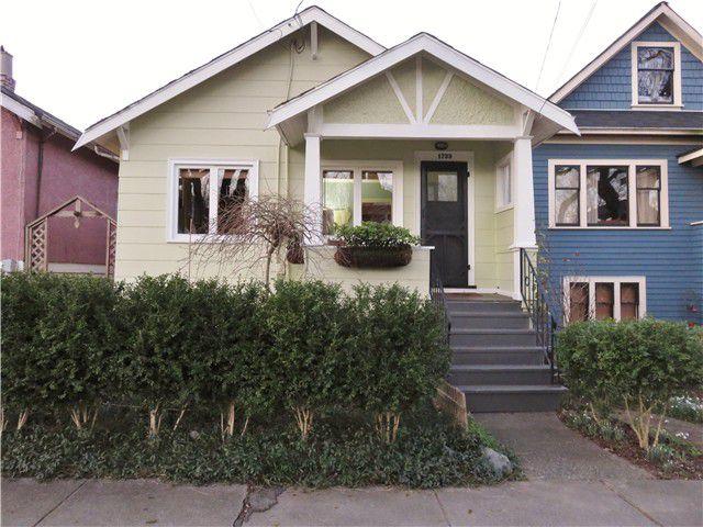 Main Photo: 1733 E 6TH AV in Vancouver: Grandview VE House for sale (Vancouver East)  : MLS®# V1102555