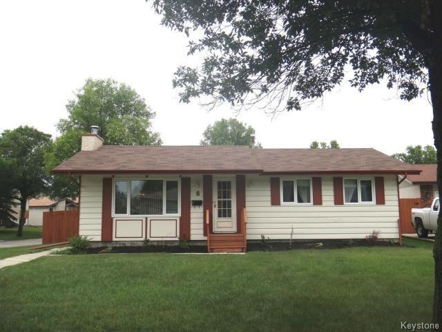 Main Photo: 6 Moberly Avenue in WINNIPEG: Transcona Residential for sale (North East Winnipeg)  : MLS®# 1420958