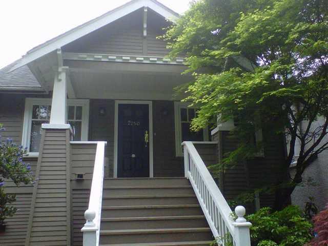 """Main Photo: 2250 W 13TH AV in Vancouver: Kitsilano House for sale in """"Kitsilano"""" (Vancouver West)  : MLS®# V1009329"""