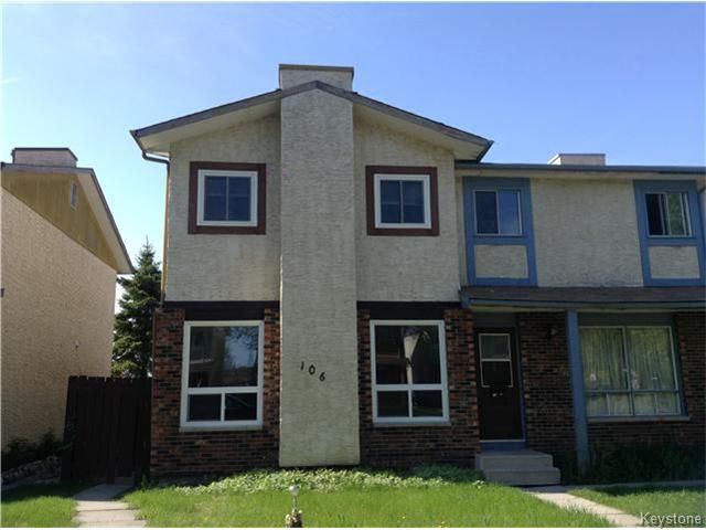 Photo 1: Photos: 106 Kinver Avenue in WINNIPEG: Maples / Tyndall Park Single Family Attached for sale (North West Winnipeg)  : MLS®# 1412526