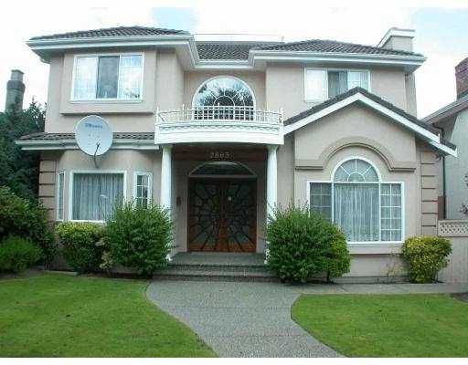 Main Photo: 2863 ALAMEIN AV in Vancouver: Arbutus House for sale (Vancouver West)  : MLS®# V551282