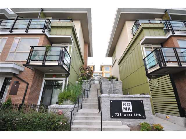 "Main Photo: 69 728 W 14TH Street in North Vancouver: Hamilton Townhouse for sale in ""NOMA"" : MLS®# V972843"