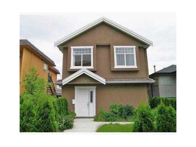 Main Photo: 3389 E 4TH Avenue in Vancouver: Renfrew VE House 1/2 Duplex for sale (Vancouver East)  : MLS®# V1025622