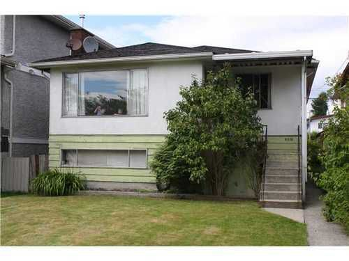 Main Photo: 4335 GEORGIA Street in Burnaby North: Willingdon Heights Home for sale ()  : MLS®# V837444