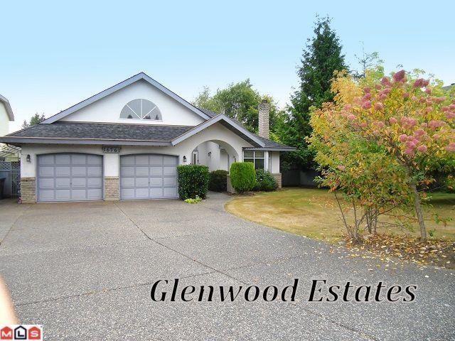 "Main Photo: 16761 CHERRYHILL CR in Surrey: Fraser Heights House for sale in ""Glenwood Estates"" (North Surrey)  : MLS®# F1313125"
