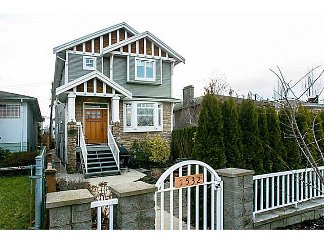 Main Photo: 1528 East Pender Street in Vancouver: Hastings House 1/2 Duplex for sale (Vancouver East)  : MLS®# V1043367