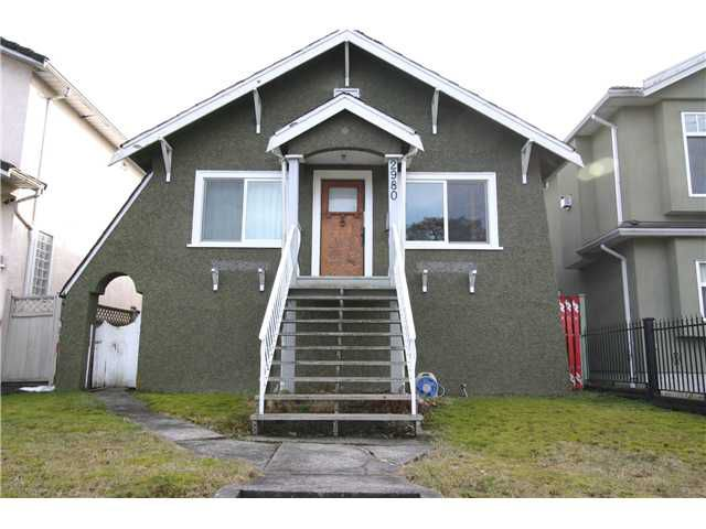 Main Photo: 2980 E 1ST AV in Vancouver: Renfrew VE House for sale (Vancouver East)  : MLS®# V1051069
