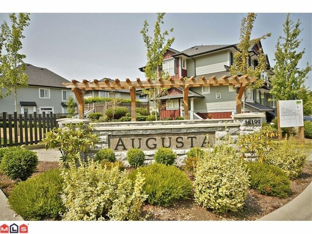 "Main Photo: 109 18199 70TH Avenue in Surrey: Cloverdale BC Townhouse for sale in ""AUGUSTA"" (Cloverdale)  : MLS®# F1220480"