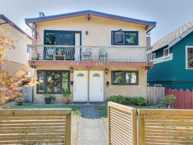 Main Photo: 670 E 13TH AV in Vancouver: Mount Pleasant VE House for sale (Vancouver East)  : MLS®# V1140453