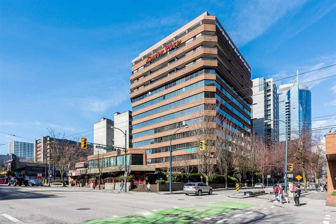 Main Photo: 606 1177 HORNBY STREET in Vancouver: Downtown VW Condo for sale (Vancouver West)  : MLS®# R2250865