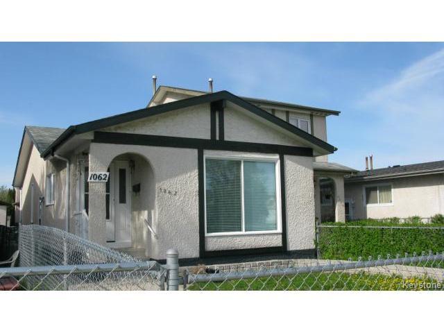 Photo 2: Photos: 1062 McLeod Avenue in WINNIPEG: North Kildonan Single Family Attached for sale (North East Winnipeg)  : MLS®# 1412031