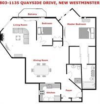 Main Photo: 803 1135 QUAYSIDE DRIVE in New Westminster: Quay Condo for sale : MLS®# R2096186