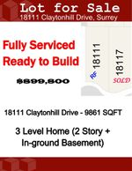Main Photo: 18111 CLAYTONHILL Drive in Surrey: Cloverdale BC Land for sale (Cloverdale)  : MLS®# R2407602