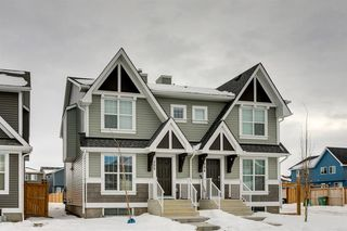 Main Photo: 298 Auburn Meadows Boulevard SE in Calgary: Auburn Bay Semi Detached for sale : MLS®# A1058452