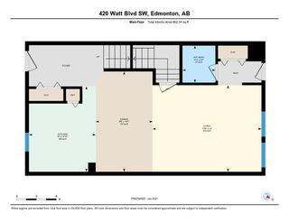 Photo 46: 420 Watt Boulevard in Edmonton: Zone 53 House Half Duplex for sale : MLS®# E4224836