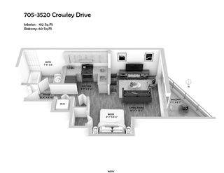 "Photo 4: 705 3520 CROWLEY Drive in Vancouver: Collingwood VE Condo for sale in ""THE MILLENIO"" (Vancouver East)  : MLS®# R2446146"