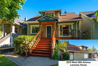 Main Photo: 3880 W 29TH Avenue in Vancouver: Dunbar House for sale (Vancouver West)  : MLS®# R2482343