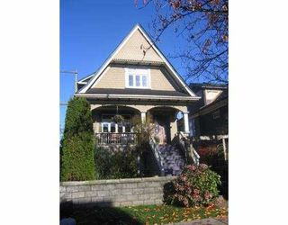 Main Photo: 1735 E 2ND AV in Vancouver: Grandview VE House for sale (Vancouver East)  : MLS®# V565839