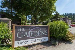 "Photo 1: 1220 34909 OLD YALE Road in Abbotsford: Abbotsford East Townhouse for sale in ""The Gardens"" : MLS®# R2463400"