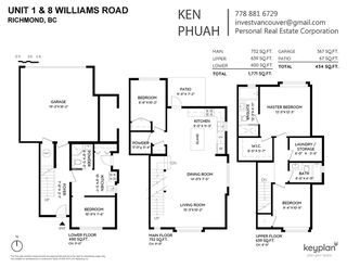 """Photo 2: 1 9219 WILLIAMS Road in Richmond: Saunders Townhouse for sale in """"WILLIAMS & PARK"""" : MLS®# R2484081"""