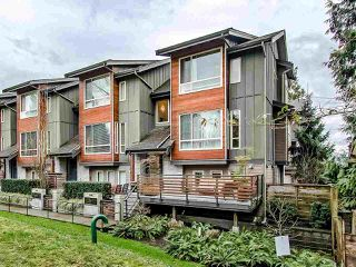 "Photo 1: 16 897 PREMIER Street in North Vancouver: Lynnmour Townhouse for sale in ""Legacy @ Nature's Edge"" : MLS®# R2441347"