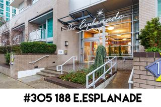 """Photo 1: 305 188 E ESPLANADE in North Vancouver: Lower Lonsdale Townhouse for sale in """"Esplanade at the Pier"""" : MLS®# R2457175"""