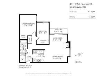 Photo 13: 407 1550 BARCLAY Street in Vancouver: West End VW Condo for sale (Vancouver West)  : MLS®# R2402674
