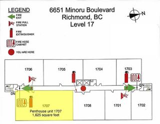 """Photo 23: 1707 6651 MINORU Boulevard in Richmond: Brighouse Condo for sale in """"PARK TOWERS"""" : MLS®# R2509122"""