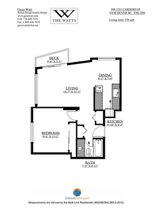 Photo 15: 508 1251 CARDERO STREET in Vancouver: West End VW Condo for sale (Vancouver West)  : MLS®# R2472940