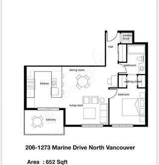 Photo 20: 206 1273 MARINE DRIVE in North Vancouver: Norgate Condo for sale : MLS®# R2428127