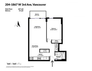 Photo 16: 204 1867 W 3RD AVENUE in Vancouver: Kitsilano Condo for sale (Vancouver West)  : MLS®# R2440563