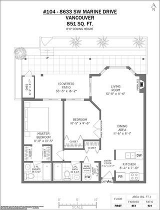 """Photo 17: 104 8633 SW MARINE Drive in Vancouver: Marpole Condo for sale in """"SOUTHBEND"""" (Vancouver West)  : MLS®# R2510808"""