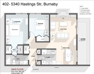 """Photo 20: 402 5340 HASTINGS Street in Burnaby: Capitol Hill BN Condo for sale in """"CEDARWOOD"""" (Burnaby North)  : MLS®# R2408807"""