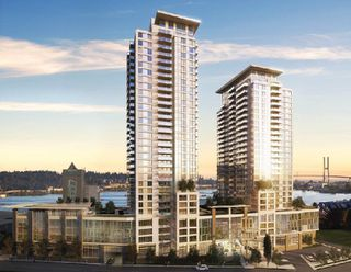 """Photo 1: 1502 988 QUAYSIDE Drive in New Westminster: Quay Condo for sale in """"RIVERSKY 2"""" : MLS®# R2450521"""