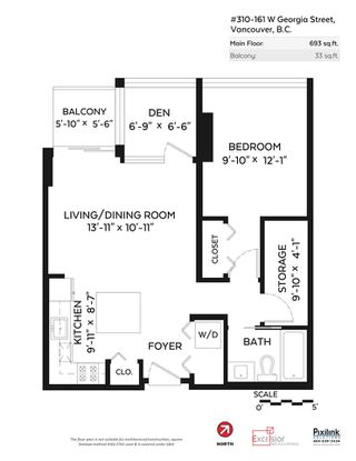 """Photo 33: 310 161 W GEORGIA Street in Vancouver: Downtown VW Condo for sale in """"COSMO"""" (Vancouver West)  : MLS®# R2503514"""