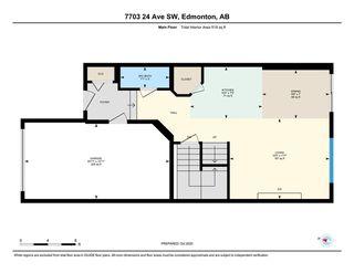 Photo 34: 7703 24 Avenue in Edmonton: Zone 53 House Half Duplex for sale : MLS®# E4218328