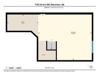 Photo 36: 7703 24 Avenue in Edmonton: Zone 53 House Half Duplex for sale : MLS®# E4218328