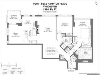 """Photo 5: 907 5615 HAMPTON Place in Vancouver: University VW Condo for sale in """"BALMORAL"""" (Vancouver West)  : MLS®# R2521263"""
