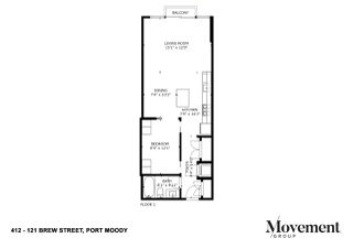 """Photo 20: 412 121 BREW Street in Port Moody: Port Moody Centre Condo for sale in """"ROOM"""" : MLS®# R2447854"""