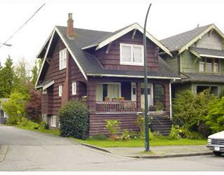 Main Photo: 2421 DUNBAR Street in Vancouver: Kitsilano House for sale (Vancouver West)  : MLS®# V645824