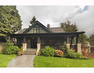 Photo 1: 1121 CONNAUGHT Drive in Vancouver: Shaughnessy House for sale (Vancouver West)  : MLS®# V669109