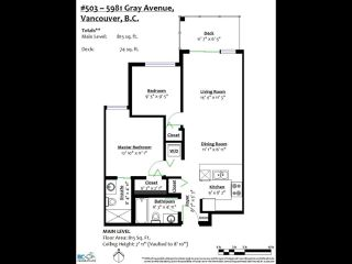 "Photo 22: 503 5981 GRAY Avenue in Vancouver: University VW Condo for sale in ""SAIL"" (Vancouver West)  : MLS®# R2511579"