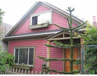 Main Photo: 1606 E 11TH Avenue in Vancouver: Grandview VE House for sale (Vancouver East)  : MLS®# V653482