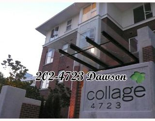 "Photo 1: 202 4723 DAWSON Street in Burnaby: Parkcrest Condo for sale in ""COLLAGE"" (Burnaby North)  : MLS®# V659344"