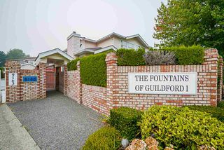 "Photo 1: 18 9163 FLEETWOOD Way in Surrey: Fleetwood Tynehead Townhouse for sale in ""The Fountains"" : MLS®# R2498462"