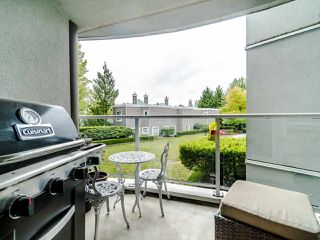 "Photo 3: 210 8450 JELLICOE Street in Vancouver: South Marine Condo for sale in ""THE BOARDWALK"" (Vancouver East)  : MLS®# R2406380"