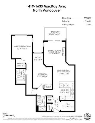 Photo 31: 419 1633 MACKAY Avenue in North Vancouver: Pemberton NV Condo for sale : MLS®# R2492154