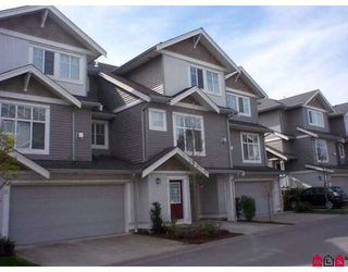 """Photo 1: 7 16760 61ST Avenue in Surrey: Cloverdale BC Townhouse for sale in """"Harvest Landing"""" (Cloverdale)  : MLS®# F2708278"""